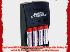 DigiPower DPS 3000 3 Hour AA AAA Rechargeable Battery Kit wi