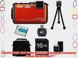 COOLPIX AW120 16MP Waterproof Shockproof Freezeproof Orange Digital Camera Kit Includes camera