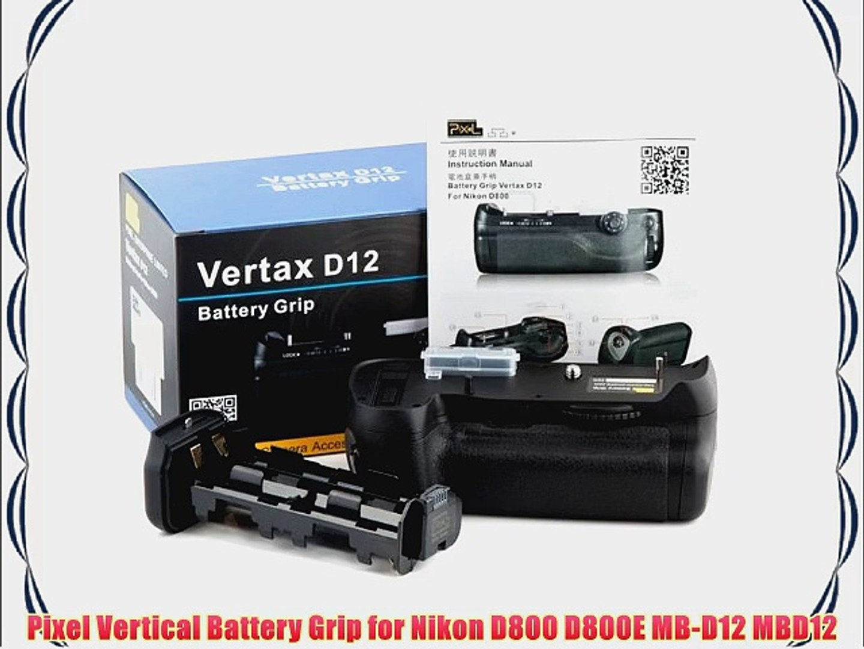 Pixel Vertical Battery Grip for Nikon D800 D800E MB-D12 MBD12