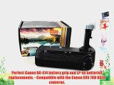 Vivitar BG-E14 Battery Grip for Canon EOS 70D DSLR Cameras (Canon BG-E14 and LP-E6 Replacements)