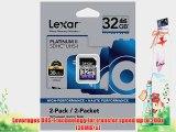 Lexar Platinum II 200x 32GB SDHC UHS-I Flash Memory Card LSD32GBSBNA2002 - 2 Pack