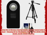 Vivitar ML-L3 Wireless Shutter Release Remote Control with 58 Tripod   Cleaning Kit for Nikon