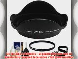 Canon EW-83E Lens Hood   77mm UV Glass Filter   Precision Design 6-Piece Deluxe Cleaning Kit