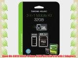 Dane DA-3IN1C1032G-R Dane 32GB MicroSD C10 with 2 Adapters