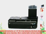 Neewer Professional Battery Grip BG-E5 Replacement for Canon 450D/500D/1000D/Rebel XS/XSi/T1i