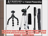 Tripod Kit For Canon PowerShot SD4500IS SD4500 ELPH 510 HS ELPH 310 HS ELPH 520 HS Includes