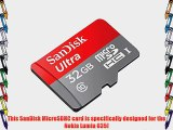 Professional Ultra SanDisk 32GB MicroSDHC Nokia Lumia 635 card is custom formatted for high