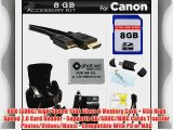 8GB Accessories Bundle Kit For Canon PowerShot SX40 HS SX40HS G1X SX50 HS SX50HS SX60 HS Powershot