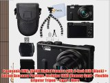 Panasonic DMC-ZS40K Digital Camera with 3-Inch LCD (Black)   Deluxe Acessory Package. Includes