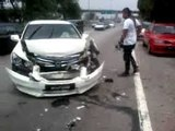 accident in Russia FRONT TIRE EXPLOSION _ Tyre Burst FATAL CRASH