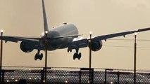 Crosswind Landings March 2nd 2015 Etihad 777 British Airways Easy Jet