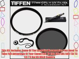 Tiffen 77mm Circular Polarizer Filter   Tiffen 77mm UV Protection Filter For Canon EF 28-300mm