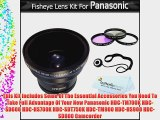 Fisheye Lens Kit For Panasonic HDC-TM700K HDC-SD600K HDC-HS700K HDC-SDT750K HDC-TM900K HDC-HS900K