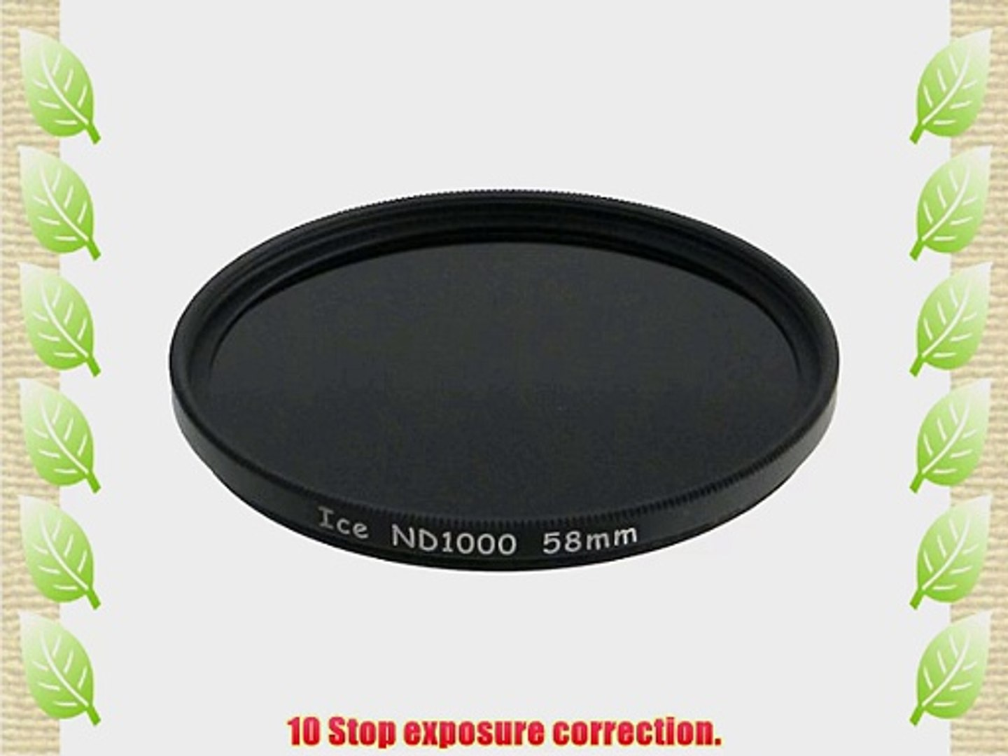 ICE 58mm ND1000 Filter Neutral Density ND 1000 58 10 Stop Optical Glass NEW