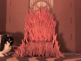 Built the Iron Throne of Game Of Thrones out of Carrots for a rabbit