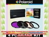 Polaroid Optics 4 Piece Filter Set (UV CPL FLD WARMING) For The Sony Alpha NEX-C3 NEX-7 NEX-6