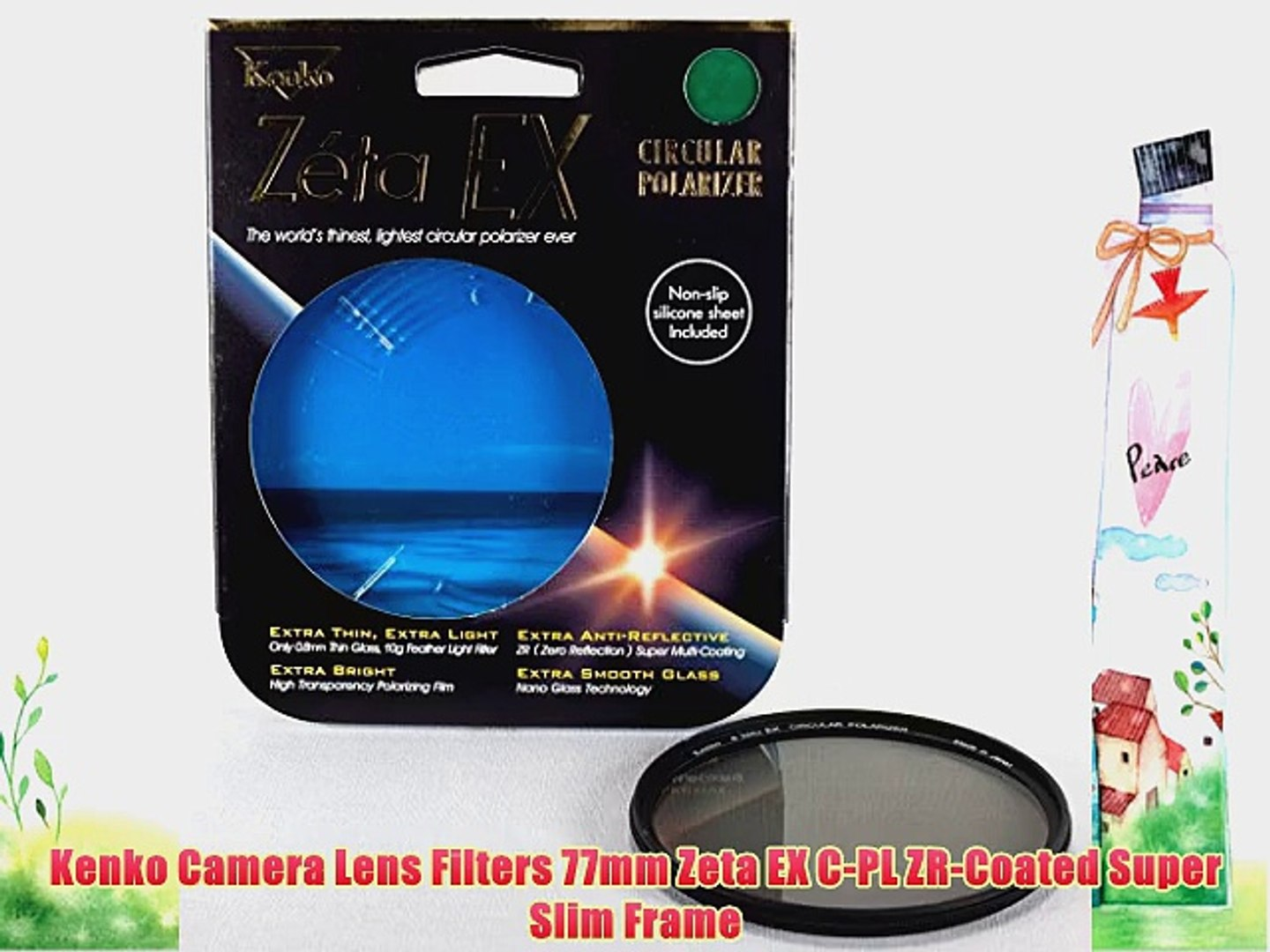 Kenko 62mm Zeta EX C-PL ZR-Coated Super Slim Frame Camera Lens Filters