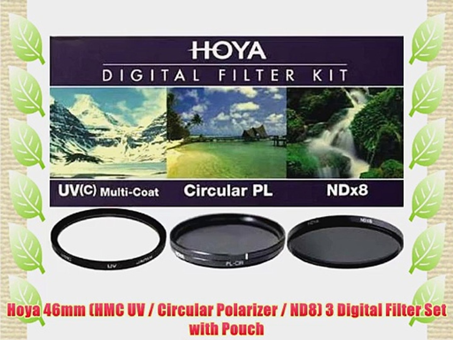 ND8 3 Digital Filter Set with Pouch 55mm Circular Polarizer Hoya 55mm HMC UV