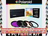 Polaroid Optics 4 Piece Filter Set (UV CPL FLD WARMING) For The Panasonic Lumix DMC-G3 DMC-GF3