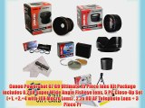 Canon Powershot G7 G9 Ultimate 15 Piece lens Kit Package Includes 0.20X Super Wide Angle Fisheye