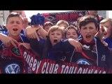Rugby : l'ambiance monte devant le Vélodrome avant le choc RCT-Toulouse