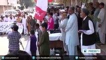 Pakistani protesters condemn Saudi aggression against Yemen - YouTube