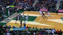 Giannis Antetokounmpo Alley-oop Dunk - Warriors vs Bucks - March 28, 2015 - NBA Season 2014-15