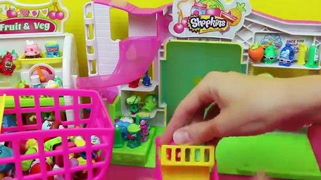 Frozen Kids Shopkins Playset Opening Shopping Cart NEW & Shopkins Collection Felicia DisneyCarTo