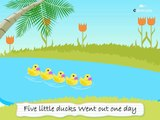 Five Little Ducks Went Out One Day | Five Little Ducks Went Swimming One Day