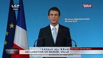 [Vidéo] Réaction du Premier ministre Manuel Valls sur les élections départementales 2015