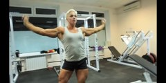 Female bodybuilding Natalya Romashko Gym Muscle