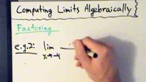 Calculus I - Limits - Finding Limits Algebraically - Factoring