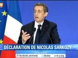 """Sarkozy: """"Jamais notre famille politique n'avait gagné autant de départements"""""""