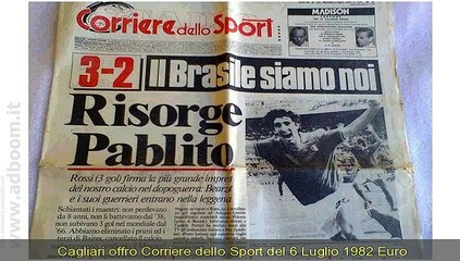 CAGLIARI,    CORRIERE DELLO SPORT DEL 6 LUGLIO 1982  EURO 100