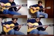Por Una Cabeza, Carlos Gardel Tango, fingerpicking guitar