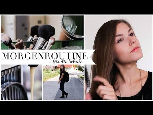 MORGENROUTINE für die SCHULE | Frühstück, Haare, Make up & Outfit | MORNING ROUTINE for SCHOOL