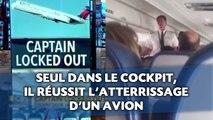 Seul dans le cockpit, il réussit l'atterrissage d'un avion