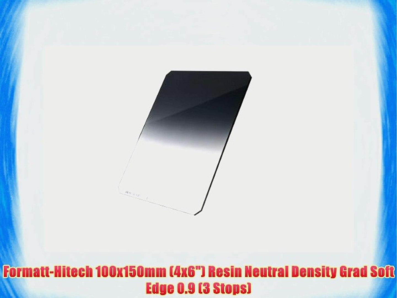 Neutral Density Filter 3 Stops Formatt Hitech Firecrest Pro 100x150mm Soft Edge Graduated 0.9