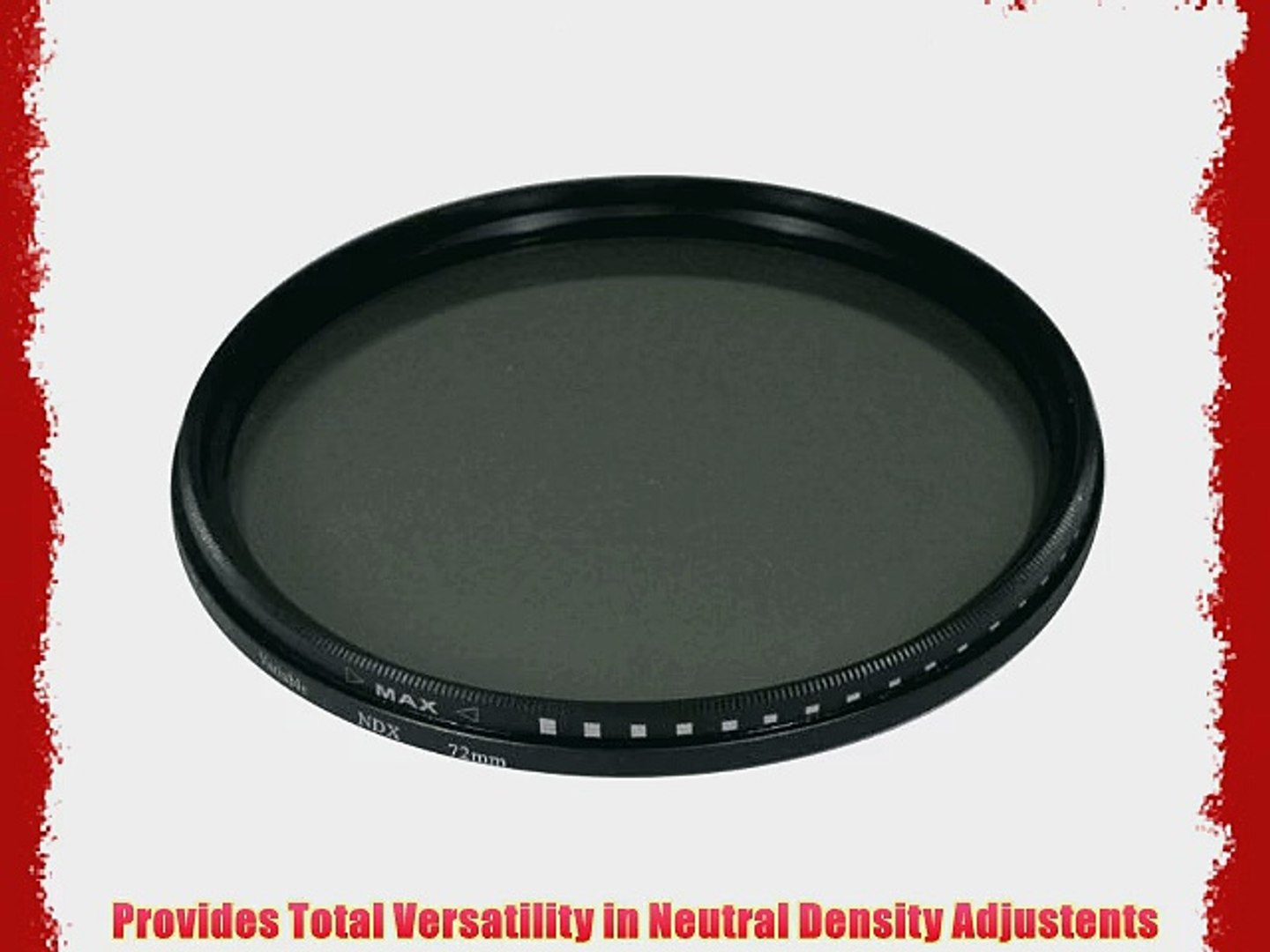 UltraPro 62mm Variable NDX Fader Filter ND2 ND1000