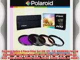 Polaroid Optics 4 Piece Filter Set (UV CPL FLD WARMING) For The Nikon D40 D40x D50 D60 D70
