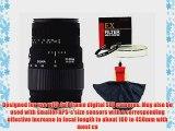 Sigma Zoom Telephoto 70-300mm f/4-5.6 DG Macro Autofocus Lens   EX Filter   Cleaning Cloth
