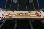 Time-lapse video of Final Four basketball court at Lucas Oil Stadium
