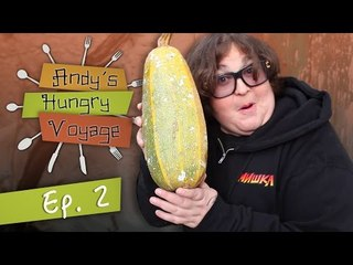 Greek Breakfast w/ Andy Milonakis' Aunt! - Andy's Hungry Voyage | Ep 2