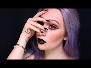 Fall Inspired Makeup Tutorial - Black Lips