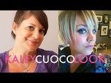 Kaley Cuoco Blue Twiggy Look | Jamie Greenberg Makeup
