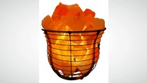 Himalayan Salt Wire Mesh Basket Lamp