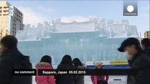 Star Wars sculptures capture audience at Hokkaido snow festival - no comment