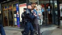 EXCLUSIF Paris (France) 9/12/2013 Injures et baston entre CRS et policiers en civils. Altercation