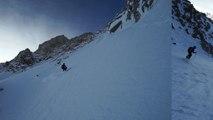 Col Supérieur du Tour Noir pente sud/est Chamonix Mont-Blanc ski de randonnée