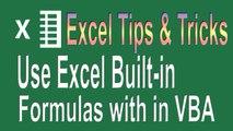 Excel VBA Programming Tips n Tricks # 2   How to use Excel formulas in VBA
